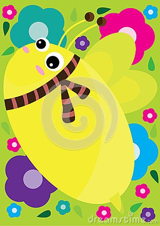 Cute Bee Background_eps
