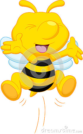 Free Cute Bee Cartoon Royalty Free Stock Photography - 47107507