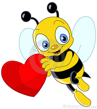 Cute bee valentine