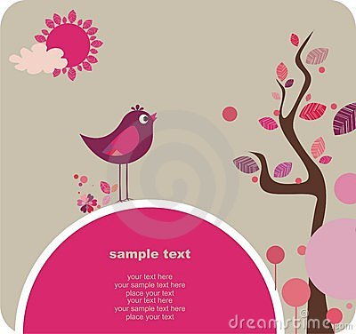 Cute Bird, Lovely Design Royalty Free Stock Image - Image: 13756546