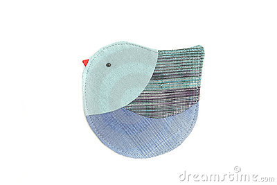 Cute Bird Sew By Cloth Stock Photos - Image: 22327373