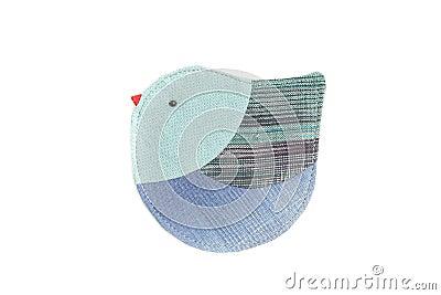 Cute bird sew by cloth