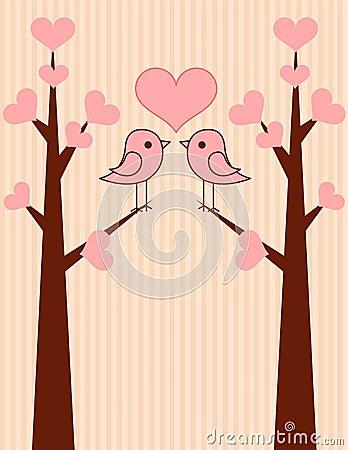 Cute birds couple