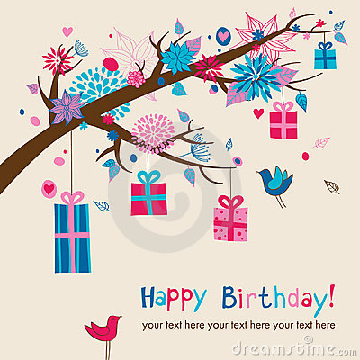 Free Cute Birthday S Card Royalty Free Stock Photography - 21086997