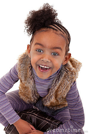 Cute black girl smiling