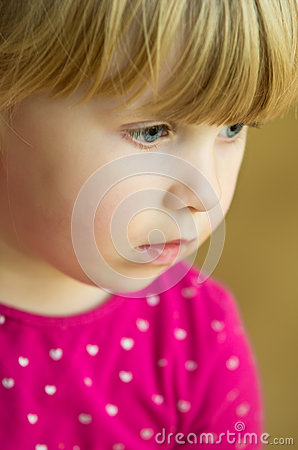 Cute blonde girl portrait