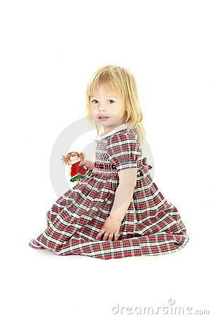 Cute blonde toddler girl