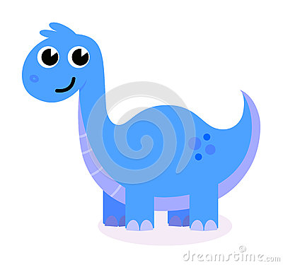 Cute blue Dinosaur