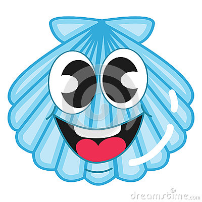 Cute Blue Shell Stock Vector - Image: 53928109