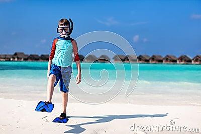 Cute boy at beach