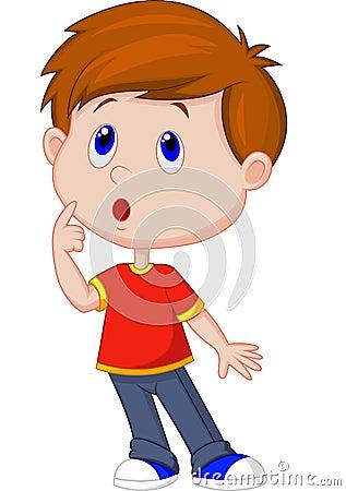 Free Cute Boy Cartoon Thinking Royalty Free Stock Photos - 39150098