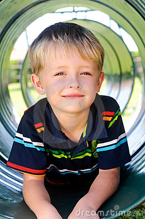 Free Cute Boy In Playground Royalty Free Stock Images - 17217369