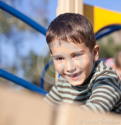 Cute boy on the playground