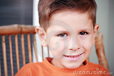 Cute boy smiling