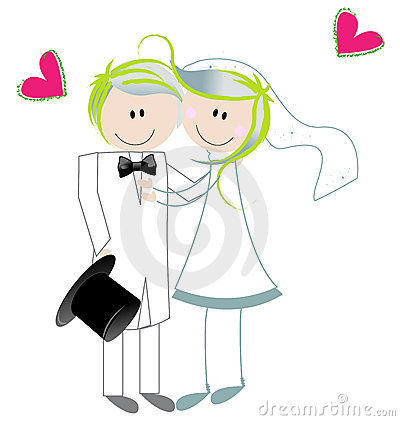 Cute Bride And Groom Royalty Free Stock Image - Image: 13315976