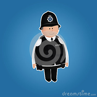Cute british police officer character