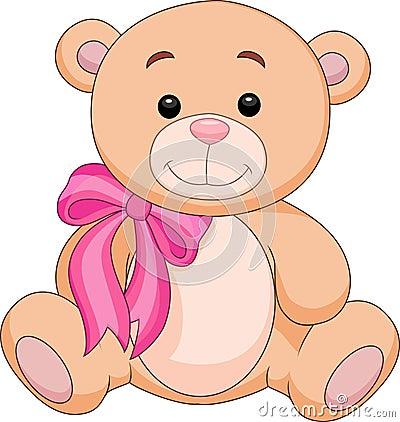 Cute brown bear stuff cartoon