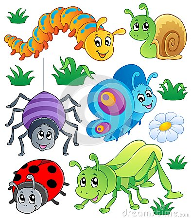 Free Cute Bugs Collection 1 Royalty Free Stock Image - 25252516