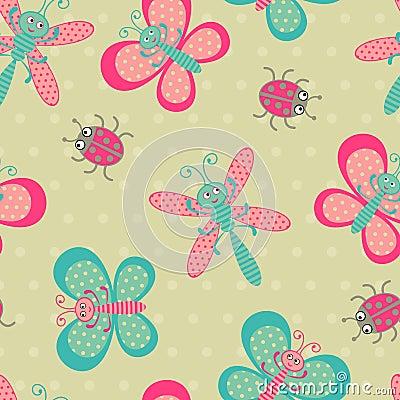 Cute bugs pattern