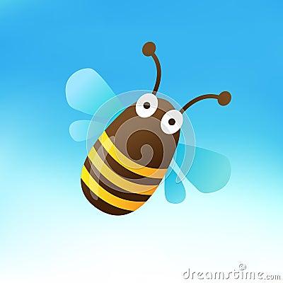 Cute Bumblebee Mascot
