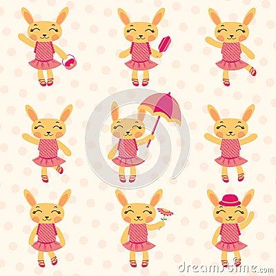 Cute bunny girls set