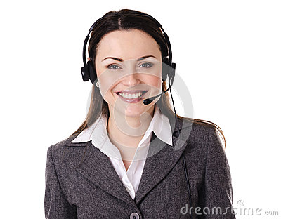 Cute business customer service woman