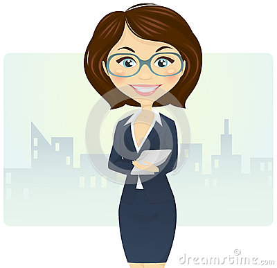 Cute businesswoman