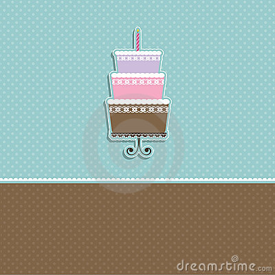 Cute cake background