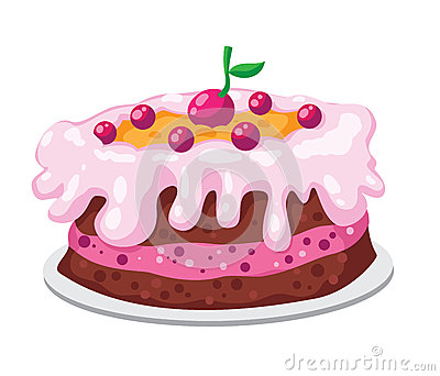 Cute cake Vector Illustration