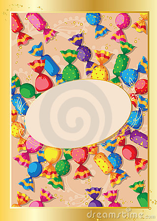 Cute candy card
