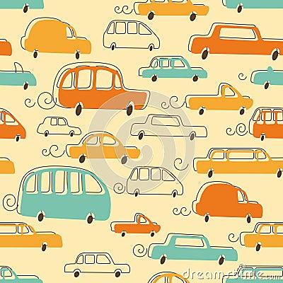 Cute Cars Pattern
