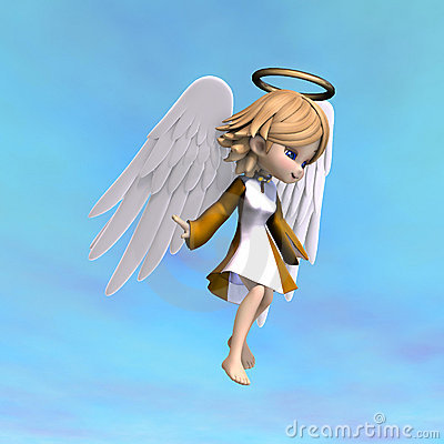 Cartoon Angel with Halo