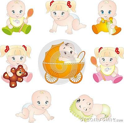 Cute cartoon babies