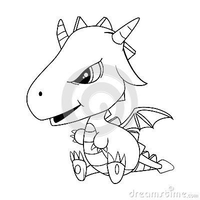 Free Cute Cartoon Baby Dragon Royalty Free Stock Images - 88216039