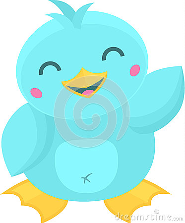 Cute Cartoon Bird Waving