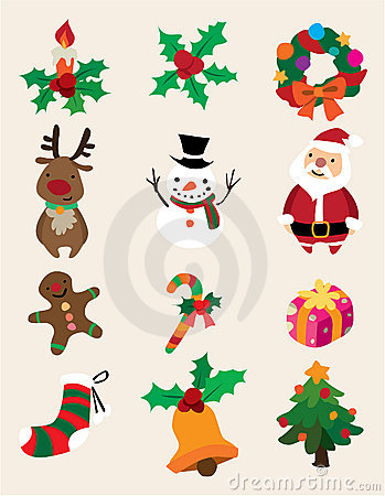Cute cartoon Christmas element