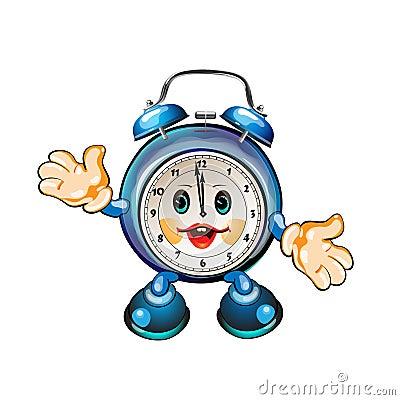 Cute Cartoon Clock Stock Photo Image 17799320