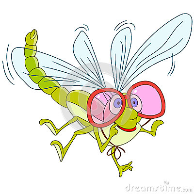 Free Cute Cartoon Dragonfly Royalty Free Stock Images - 65459149