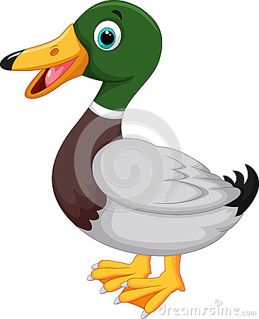 Free Cute Cartoon Duck Stock Image - 45854911