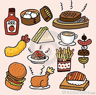 Free Cute Cartoon Food Royalty Free Stock Image - 16793986