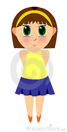 Cute Cartoon Girl