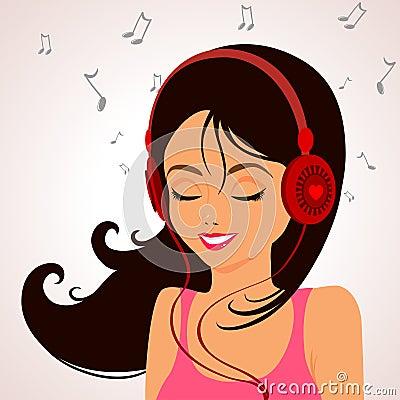 Girl Music Royalty Free Stock Photo - Image: 29871305