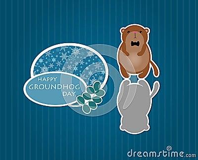 Cute cartoon groundhog