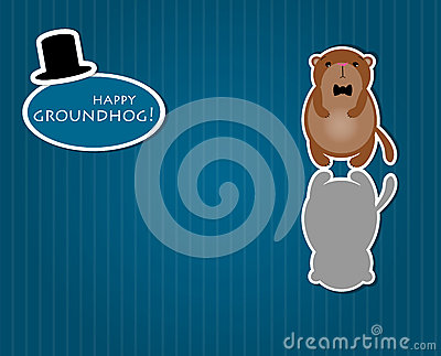 Cute cartoon groundhog