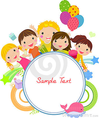 Free Cute Cartoon Kids Frame Royalty Free Stock Images - 18541859