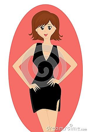Cute Cartoon Lady