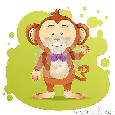 Cute cartoon monkey toy