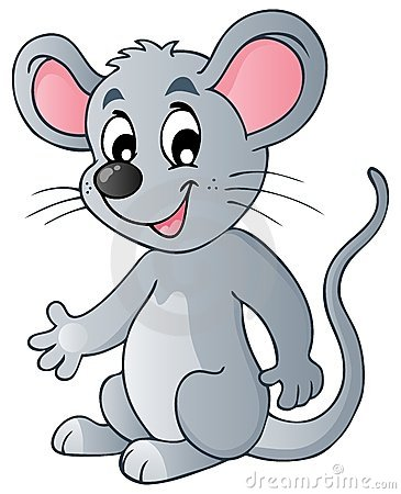 Free Cute Cartoon Mouse Stock Photography - 23962622