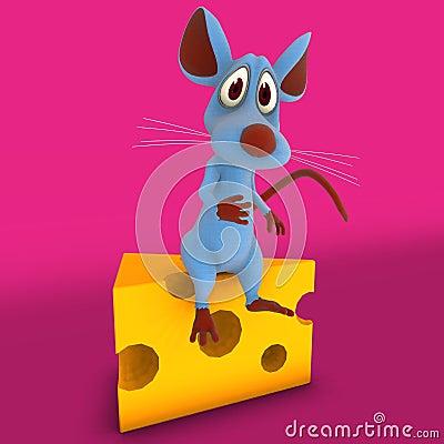 Cute Cartoon Mouse or Rat