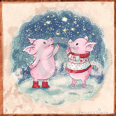 Free Cute Cartoon Pig Royalty Free Stock Images - 129939679